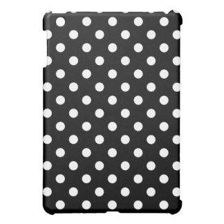 Protective iPad Mini Case -Black & White Polka Dot
