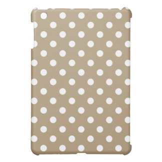 Protective iPad Mini Case - Light Brown Polka Dot