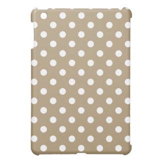Protective iPad Mini Case - Light Brown Polka Dot