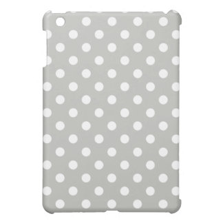 Protective iPad Mini Case - Silver Gray Polka Dot