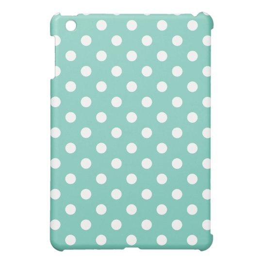 Protective iPad Mini Case - Turquoise Polka Dot