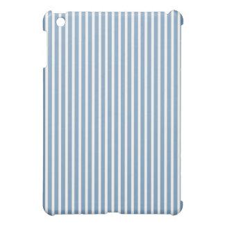 Protective iPad Mini Cases - Dusk Blue Striped