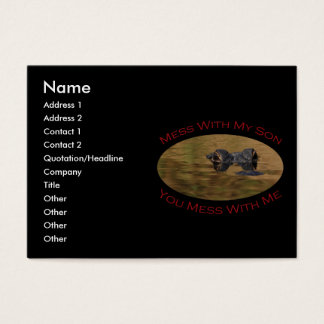 Protective Parent With Son Business Card
