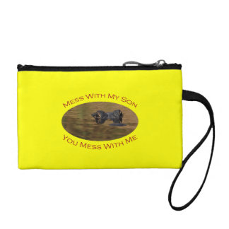 Protective Parent With Son Coin Purse