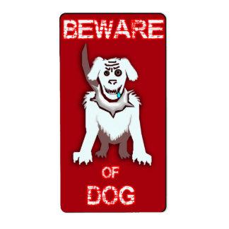 protective pooch label