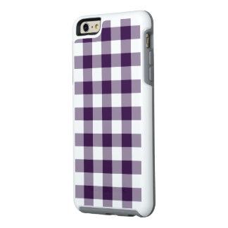 Protective Purple and White Gingham Pattern OtterBox iPhone 6/6s Plus Case