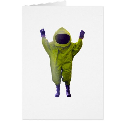protective suit greeting cards
