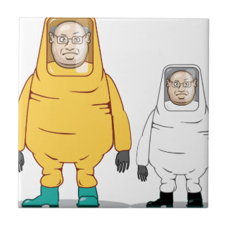 Protective Suit Illustration Ceramic Tile