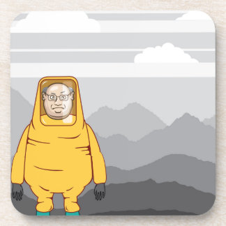 Protective Suit Illustration Coaster