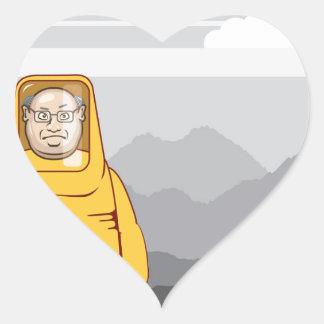 Protective Suit Illustration Heart Sticker
