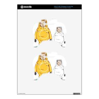 Protective Suit Illustration Xbox 360 Controller Decal