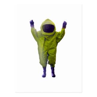protective suit postcard