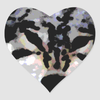 Protective Wolf Oil Heart Sticker