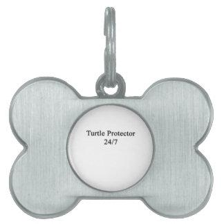 Protector 24/7 de la tortuga placas de nombre de mascota