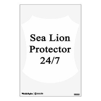 Protector 24/7 del león marino vinilo decorativo
