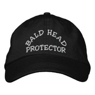 Protector de la cabeza calva gorras de beisbol bordadas