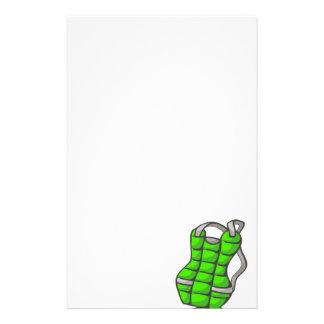 Protector de pecho verde papeleria personalizada