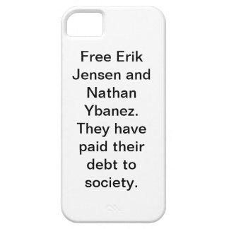 Protector del iPhone libre de Erik y de Nathan iPhone 5 Fundas