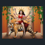 "Protector Goddess Durga Print, 14&quot; x 11&quot; Photo Print<br><div class=""desc"">Protect your shrine,  home or office with this New Age image of the warrior mother Goddess,  Durga. Print on high quality photographic paper.</div>"