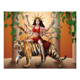 "Protector Goddess Durga Print, 14"" x 11"" Photo Print"