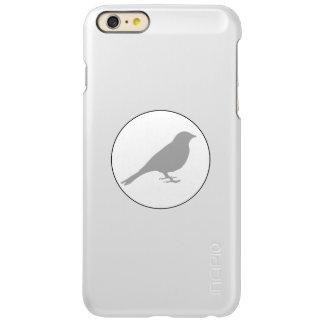 Protector gris del iPhone del pájaro del metal