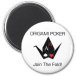 ¡Protector/imán de la tarjeta del póker de Origami Imán Redondo 5 Cm