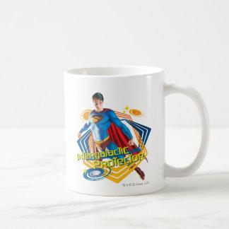 Protector intergaláctico del superhombre tazas de café