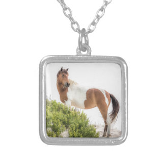 Protector of the dunes silver plated necklace