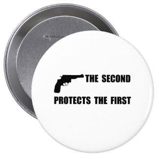 Protege en segundo lugar primero pin redondo de 4 pulgadas