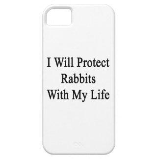 Protegeré conejos con mi vida iPhone 5 Case-Mate cobertura