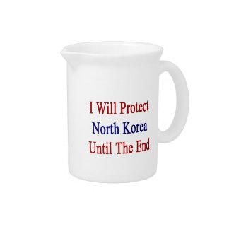 Protegeré Corea del Norte hasta el extremo Jarra Para Bebida