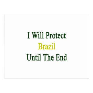 Protegeré el Brasil hasta el extremo