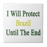Protegeré el Brasil hasta el extremo Teja