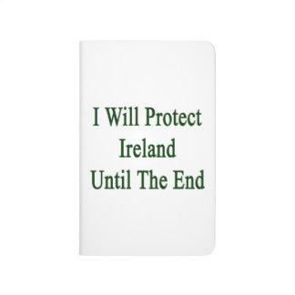 Protegeré Irlanda hasta el extremo Cuaderno Grapado