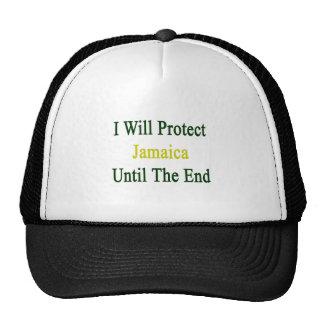 Protegeré Jamaica hasta el extremo Gorras De Camionero