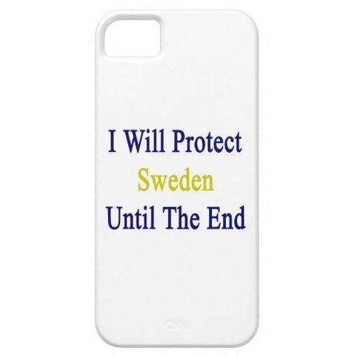 Protegeré Suecia hasta el extremo iPhone 5 Case-Mate Cárcasas