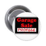 Protegido de la venta de garaje pins
