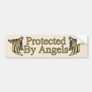 Protegido por ángeles pegatina de parachoque