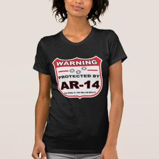 protegido por ar14 shield png camiseta