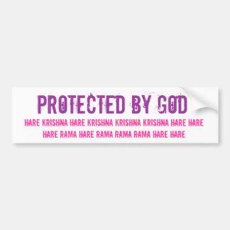 Protegido por dios pegatina de parachoque