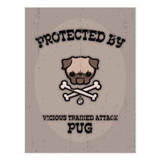 Protegido por el barro amasado tarjetas postales