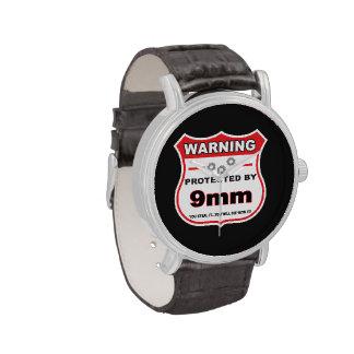 protegido por el escudo de 9m m relojes de mano
