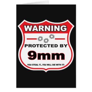 protegido por el escudo de 9m m tarjeta de felicitación