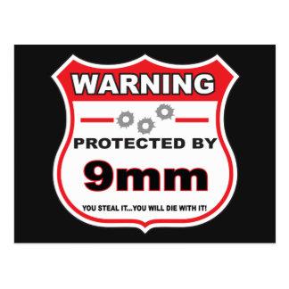 protegido por el escudo de 9m m tarjetas postales