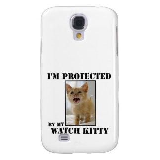 Protegido por el gatito del reloj