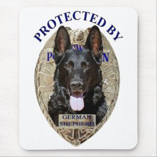 Protegido por el pastor alemán alfombrilla de ratón