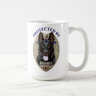 Protegido por el pastor alemán tazas de café
