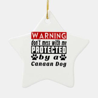 Protegido por el perro de Canaan Adorno De Cerámica En Forma De Estrella