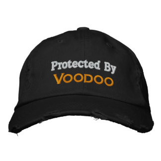 Protegido por el vudú gorras bordadas