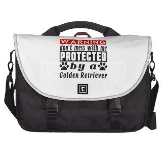 Protegido por golden retriever bolsas de portátil